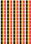 Belgium Flag Stickers - 65 per sheet
